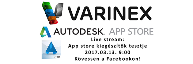 Élő közvetítés – Autodesk App Store alkalmazások tesztje