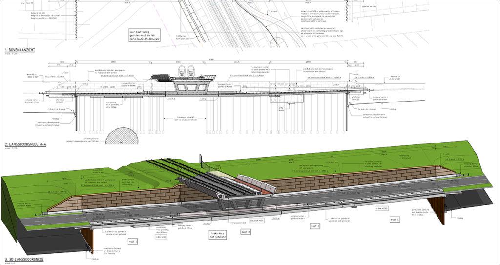 A tervezett vasúti felüljáró és a környezete