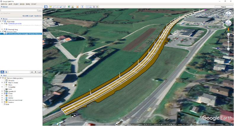 Az Exportálás eszközzel 3D szilárd testeket és egyéb objektumokat illeszthetünk be koordinátahelyesen Google Earth-be