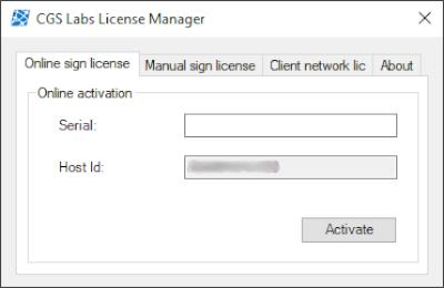 Az Új CGS Labs License Manager felülete sokkal átláthatóbb lett